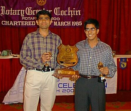 Dilip & Arun with Rotary Trophy